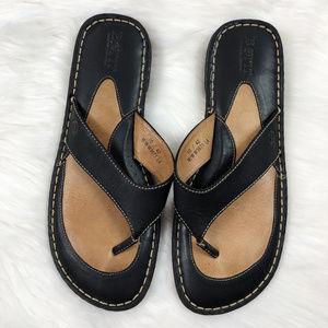 [BORN] Leather Flip Flop Thong Sandals